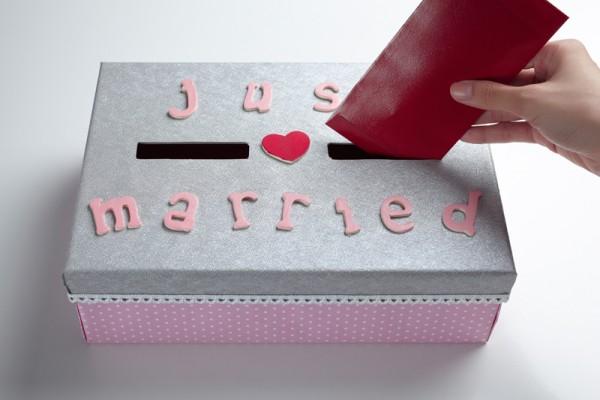 Свадебная коробка для денег как сделать своими руками за 4 шага