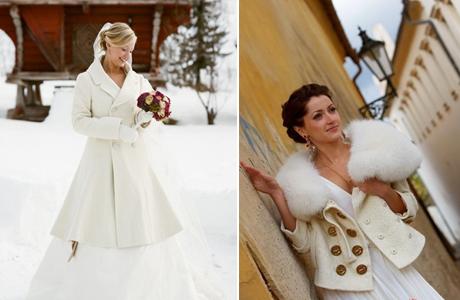 svadebnoe-palto-s-mehom Выбираем свадебное пальто