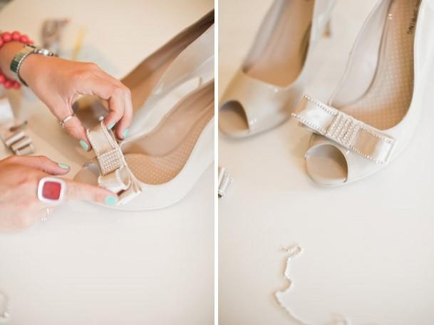 286 Мастер-класс: изящный бантик для свадебных туфель