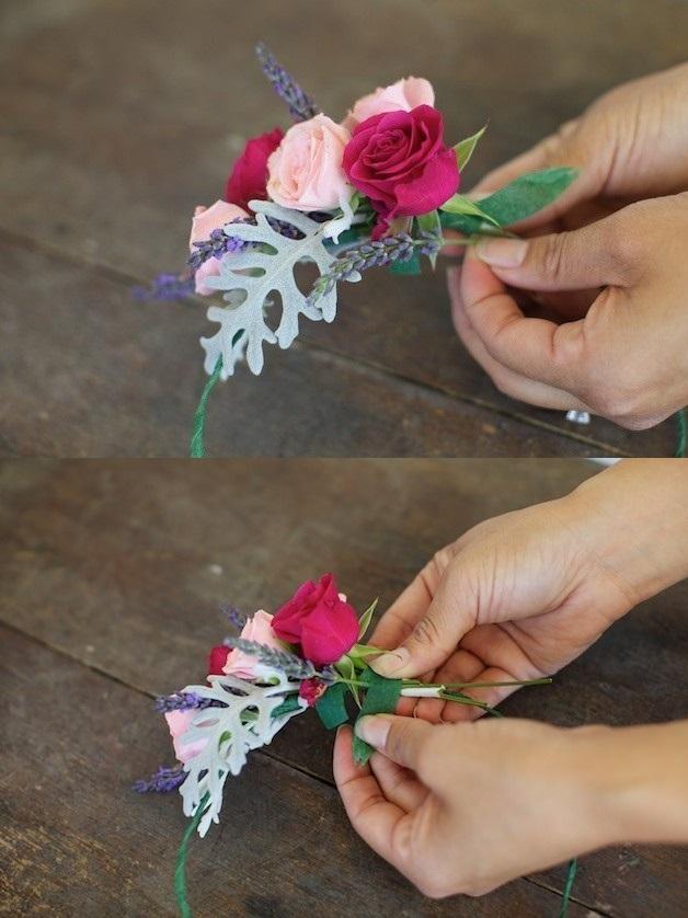 755 Мастер-класс: нежный венок для невесты из диких роз, васильков и лаванды