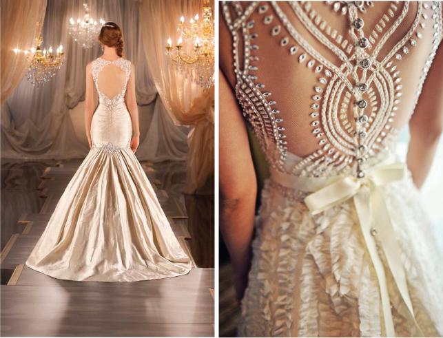 Свадебные платья с кружевной спиной1