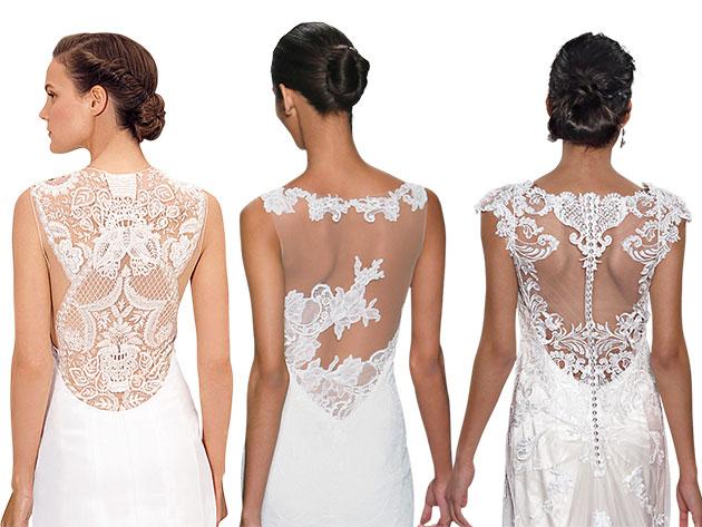 Свадебные платья с кружевной спиной2
