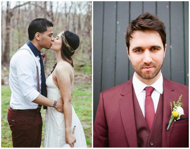 obraz-zheniha-i-nevesty-na-svadbe-marsala Модная и стильная свадьба в цвете марсала, как организовать