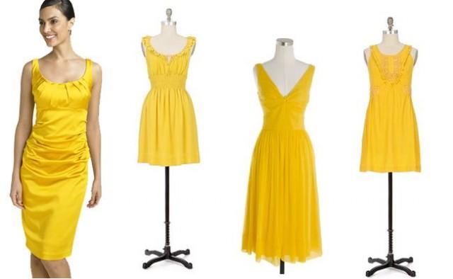 свадебные платья желтого цвета