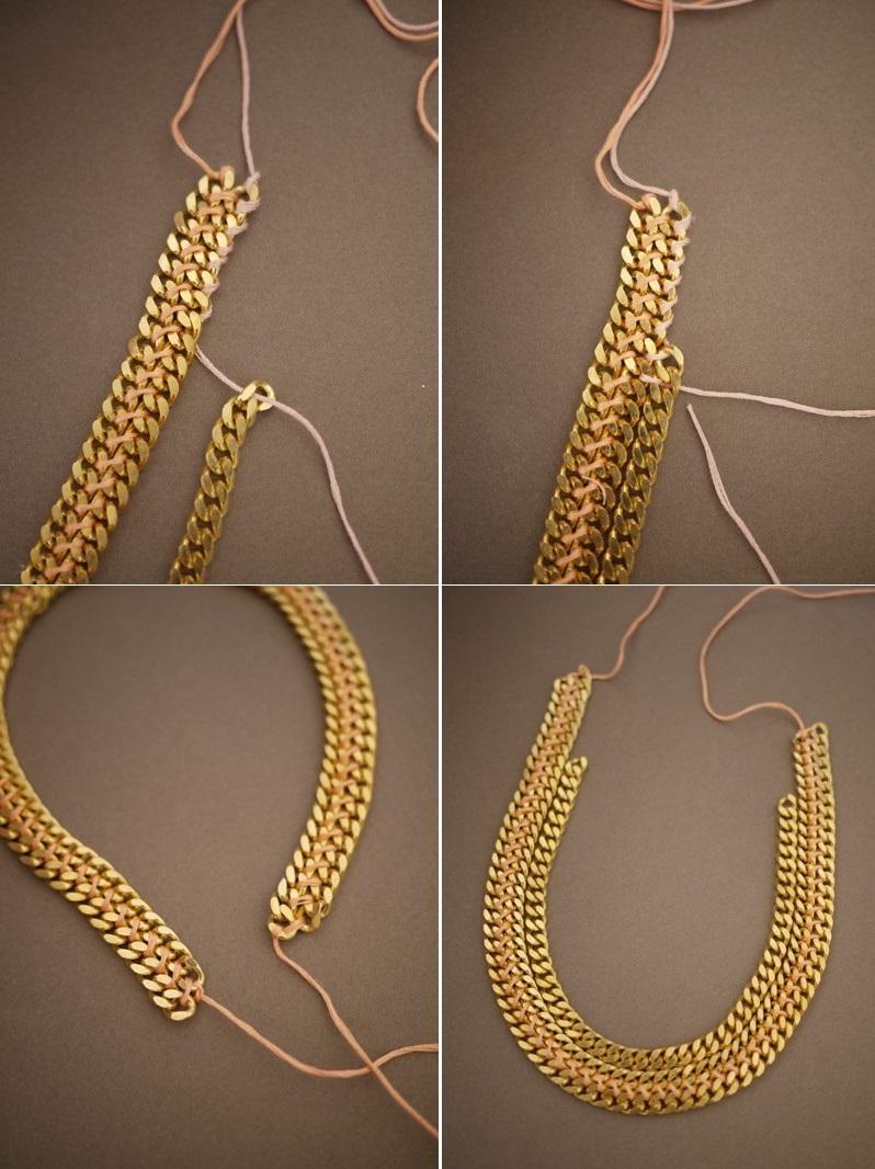 Prisoedinim-tretyu-tsepochku Мастер-класс: роскошное ожерелье для невесты собственными руками