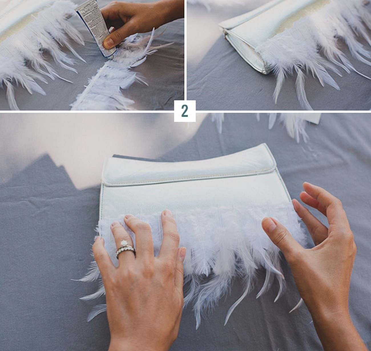kleem-perya1 Мастер-класс: изящная сумочка с перьями для невесты