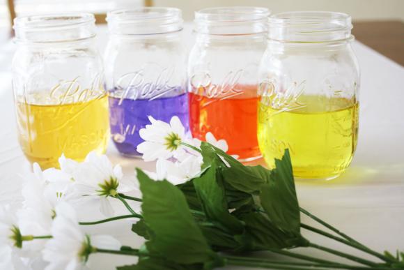 TSvetnye-banki-dlya-svadby-4 Цветные банки для свадьбы в стиле радуга своими руками