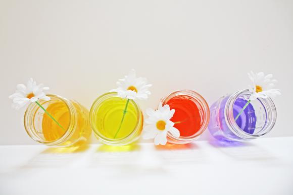 TSvetnye-banki-dlya-svadby-8 Цветные банки для свадьбы в стиле радуга своими руками