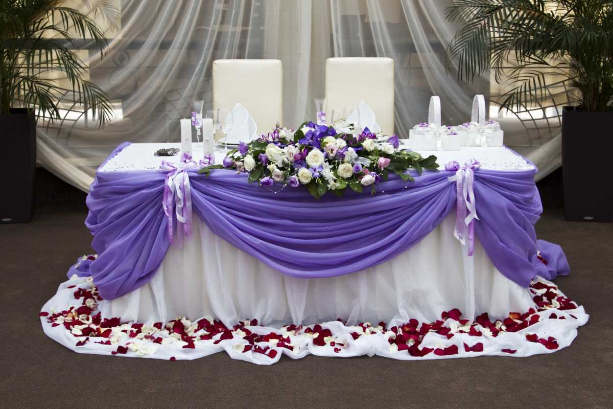 Украшение свадьбы в сиреневом цвете, какие подобрать аксессуары для торжества?