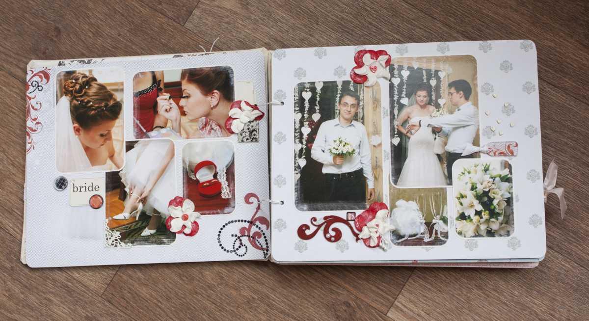 1-oformlenie-svadebnogo-alboma Оформление свадебных фотографий в альбом подручными средствами после торжества