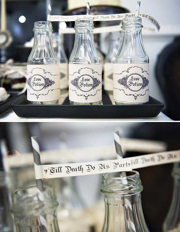 1-svadebnyj-Kendi-Bar-gotika Как организовать готический Кэнди Бар на свадьбе, чтобы он не придал радостному торжеству мрачный оттенок