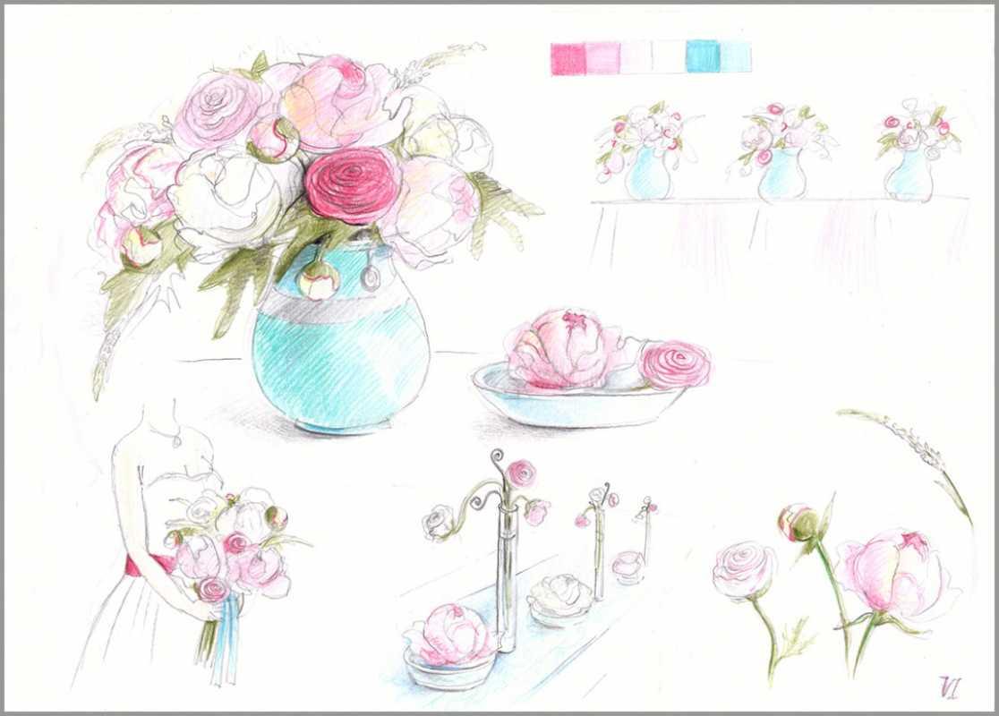 Нужен ли эскиз свадебного оформления при заказе оформления зала в дизайнерском агентстве