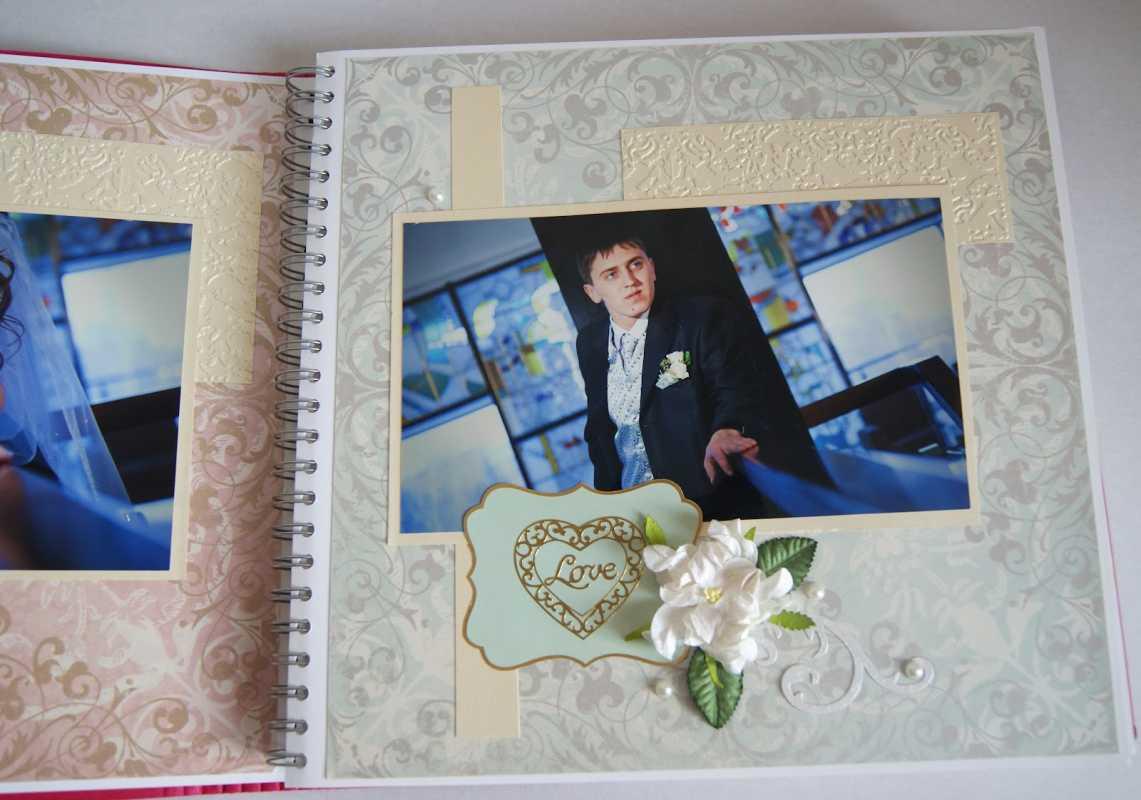 oformlenie-svadebnogo-alboma-9 Оформление свадебных фотографий в альбом подручными средствами после торжества