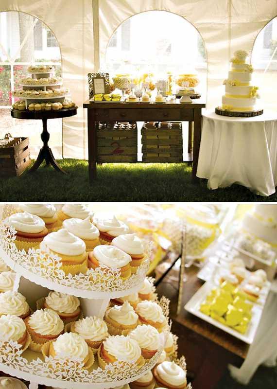 svadba-sladkij-rustik-3 Рустиковая свадьба, как разнообразить торжество желтым цветом?