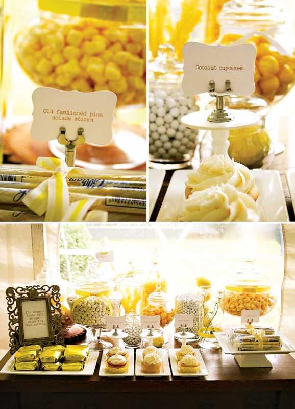 svadba-sladkij-rustik-5 Рустиковая свадьба, как разнообразить торжество желтым цветом?