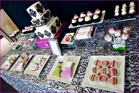 yarkij-Kendi-bar-na-svadbu-5 Яркий свадебных Кэнди бар в необычном сочетании фиолетового, розового и зеленого цвета