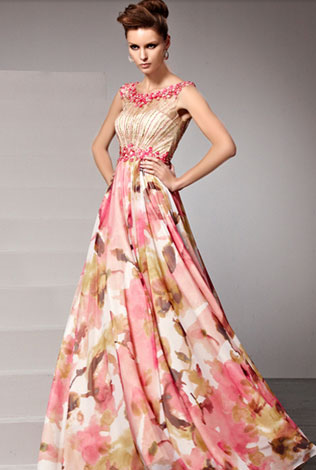4svadebnie-platya-s-cvetochnym-printom Свадебные платья с цветочным принтом, очаровательный и модный тренд в свадебной моде