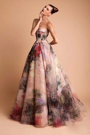 663321svadebnie-platya-s-cvetochnym-printom Свадебные платья с цветочным принтом, очаровательный и модный тренд в свадебной моде