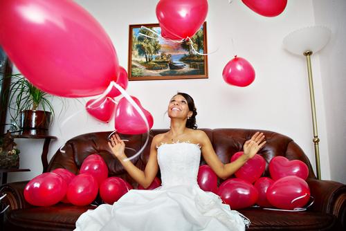 shary Воздушная свадьба - украшение шарами