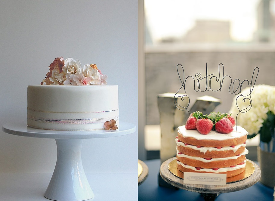 Одноуровневые свадебные торты
