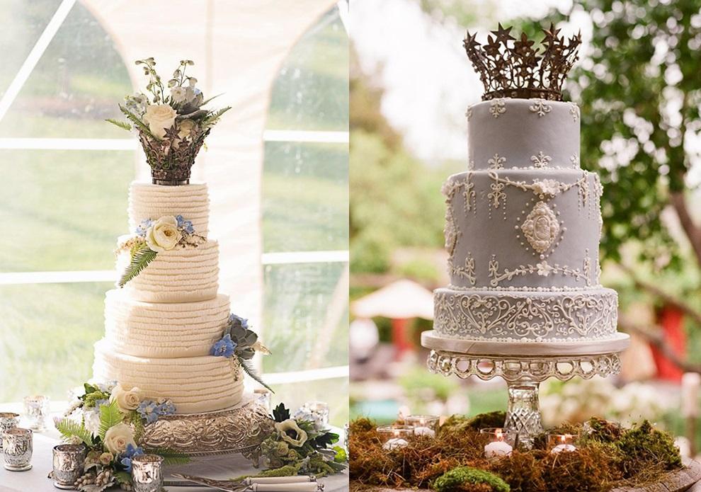 Свадебные торты с коронами