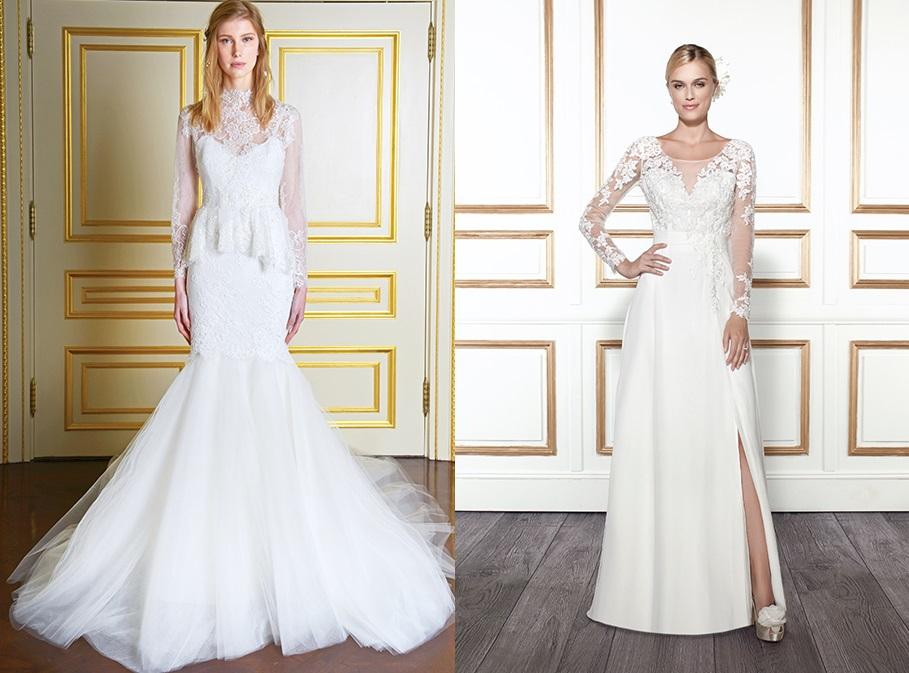 Тренды свадебных платьев 2015 года: длинные рукава