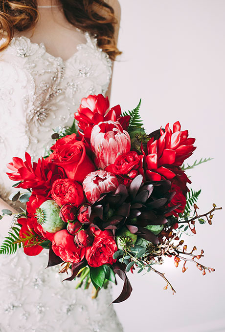 Zimnie-svadebnye-bukety13 Зимние свадебные букеты: выбираем зимний букет