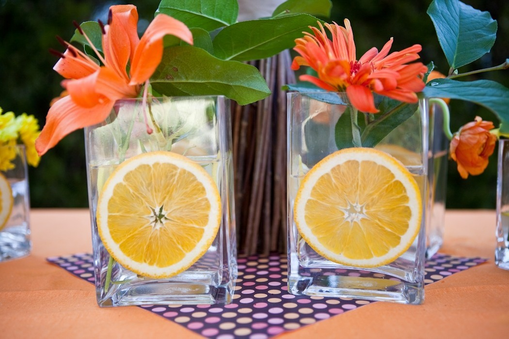 Свадьба в апельсиновом стиле: сочно и аппетитно