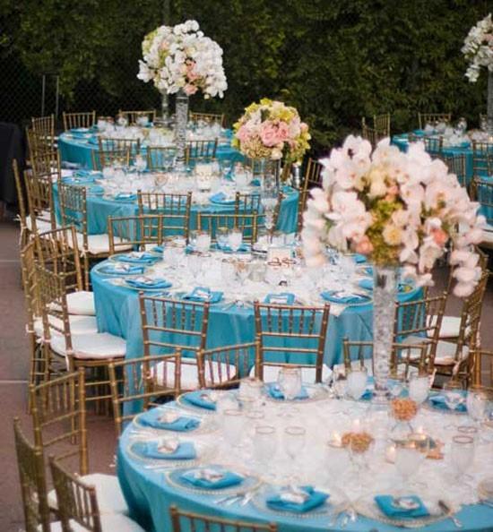 Свадьба в небесно-голубом цвете