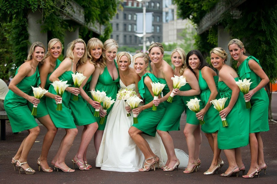 212 Свежая и гармоничная свадьба в зеленом цвете