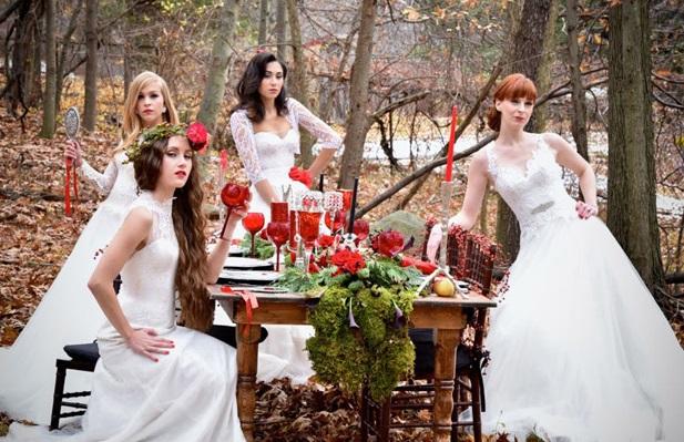 Тематические свадебные фотосессии: Белоснежка