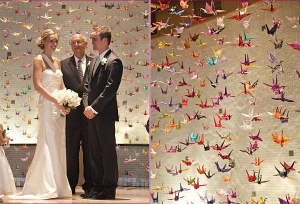 """Свадьба в стиле """"тысяча журавликов"""": украшаем свое торжество оригами"""