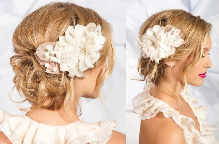 greben-dlya-volos-v-vide-tsvetov Цветочные гребни  для прически невесты: используем гребень для свадебной прически.