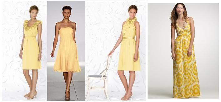 limonnye-platya-dlya-nevesty Мода 2015 года: желтое свадебное платье