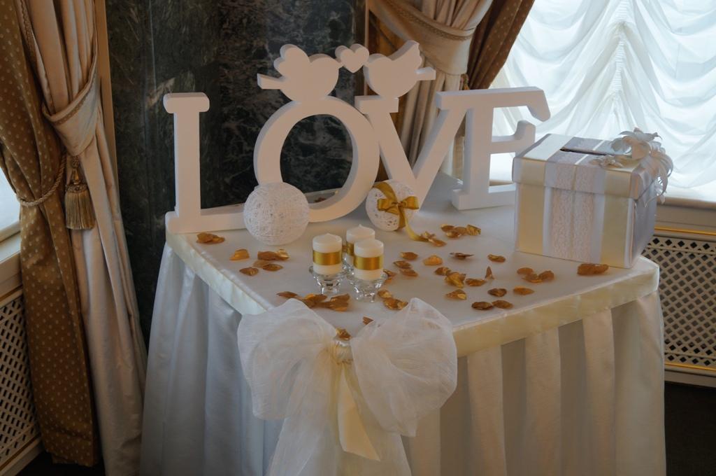 Свадьба украшение свадебного стола своими руками