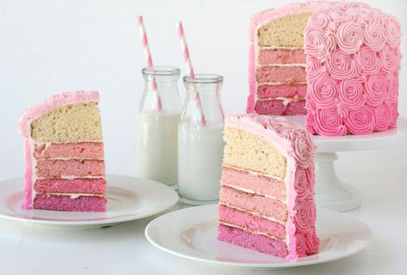 svadebnyj-tort-gradientovyj Градиентовые торты – модный тренд для свадьбы летом