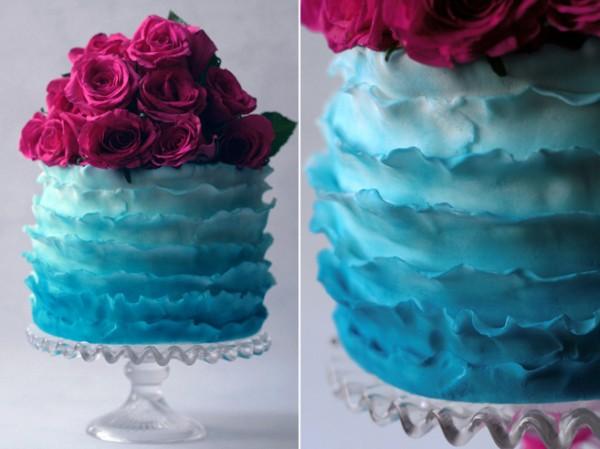 ТОП-7 модных фактурных свадебных тортов