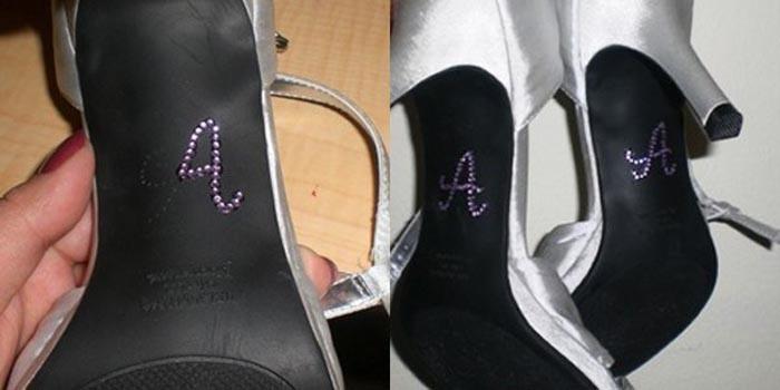 5 Мастер-класс: свадебные туфельки невесты с надписями из страз