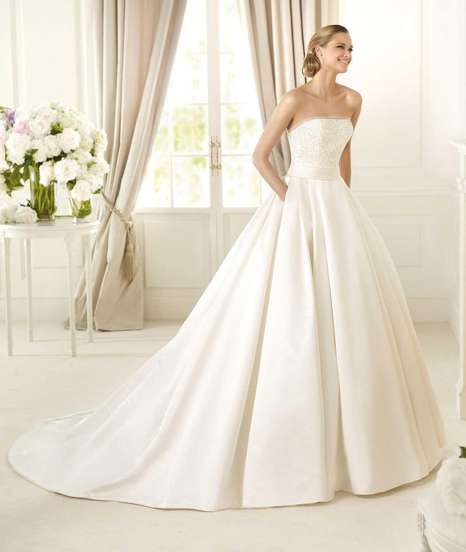 Pronovias-2013-costura-bridal-9 Фотоподборка свадебных платьев с карманами