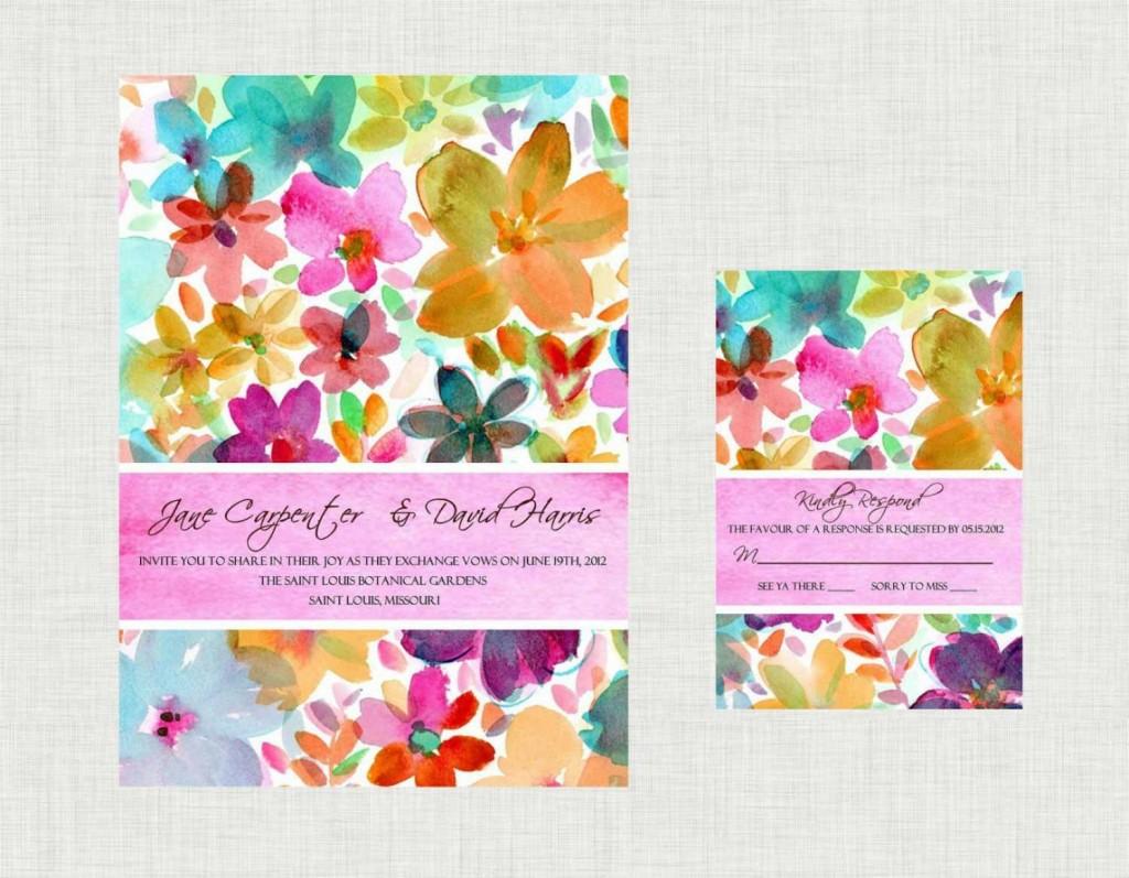 priglasitelnye-na-svadbu-v-akvarelnoj-tehnike-1024x797 Свадебные приглашения в акварельном стиле – идеальный вариант для свадьбы летом