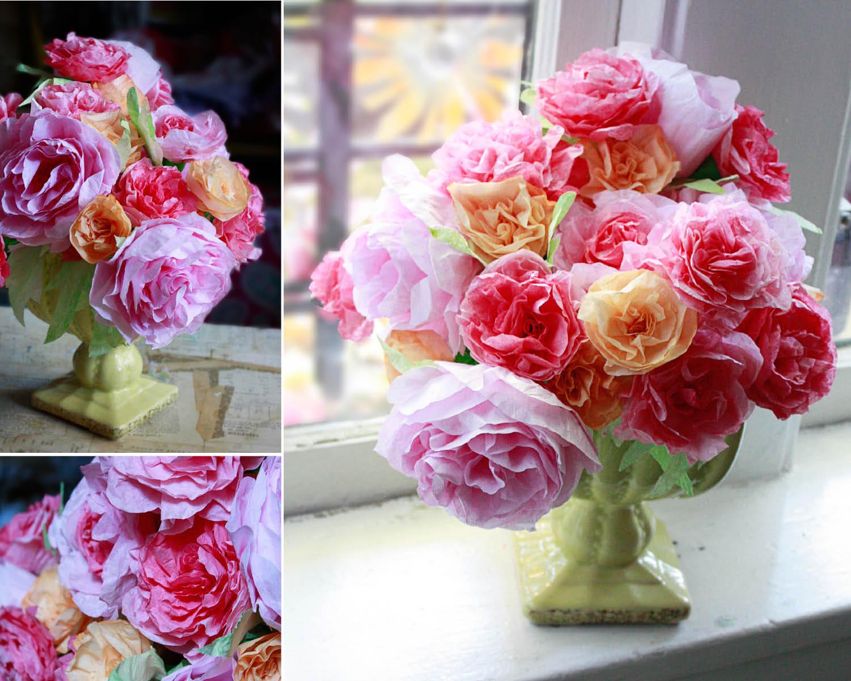 розы из фильтров для кофе1