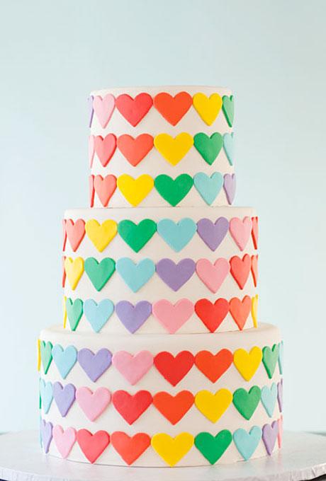 serdtse4 Тематические свадебные торты: сердце