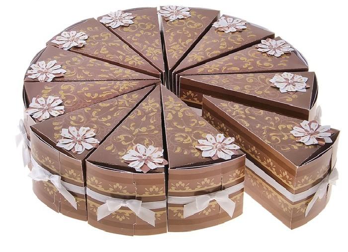 2 бонбоньерки в виде торта