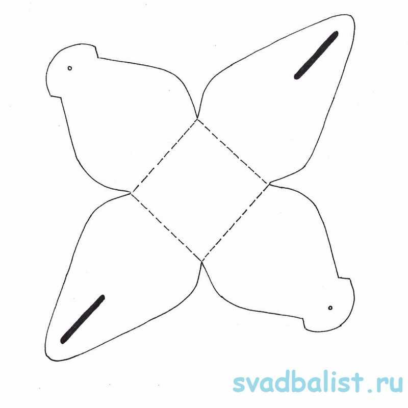 4-bonbonerka-piramidka 10 простых схем для изготовления свадебных бонбоньерок своими руками