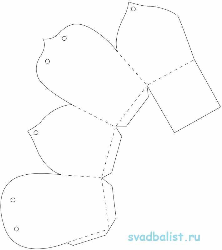 Шаблоны для бонбоньерки своими руками 225