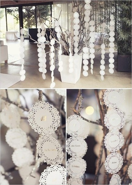 azhurnaya-girlyanda-dlya-svadby Ажурные салфетки для создания декора и украшений для свадьбы
