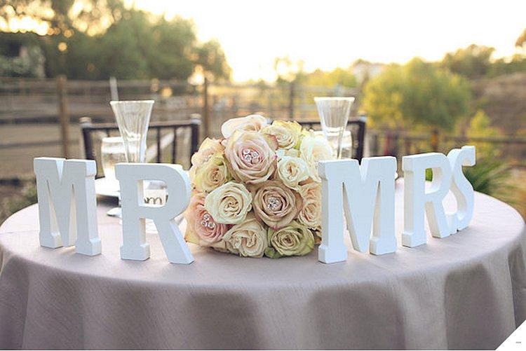 bukvy-v-svadebnom-dekore Большие буквы в свадебном декоре для оформления свадебного торжества и фотосессии