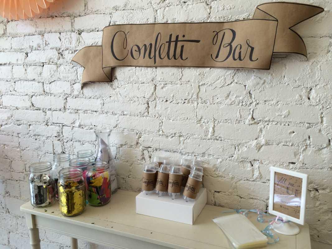 Конфетти-бар на свадьбе: интересный вариант развлечения на свадьбе