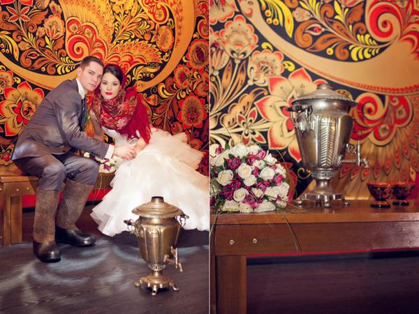 dekor-svadby-v-russkom-nardnom-stile Как создать десертный стол для свадьбы в русском стиле без привлечения оформителей?