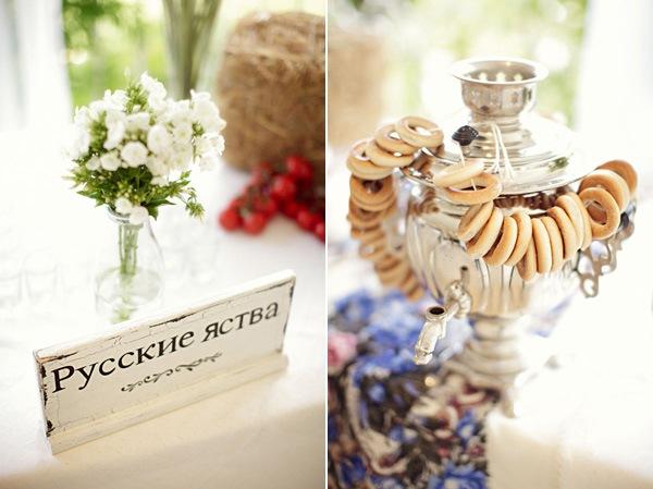 Как создать десертный стол для свадьбы в русском стиле без привлечения оформителей?